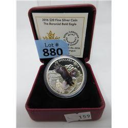 """2016 Fine Silver """"Baronial Bald Eagle"""" $20 Coin"""