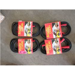 4 Sets of 12 Foot Jumper Cables