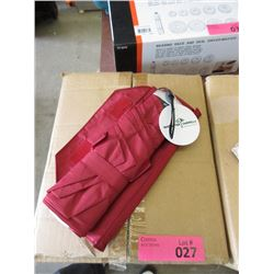 Case of 12 New Compact Red Umbrellas