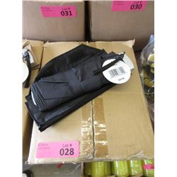 Case of 12 New Compact Black Umbrellas