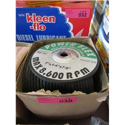 Case of 25 New Metal Grinding Wheels