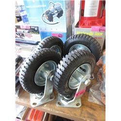 """4 New 8"""" Swivel Wheels"""