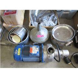 Pump, Old Pots & Funnel