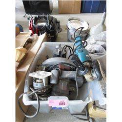 Tote of Assorted Electric Power Tools