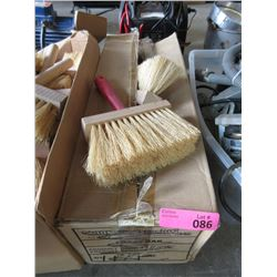 "Box of 12 Soft Bristle 2"" x 7"" Wisk Brooms"