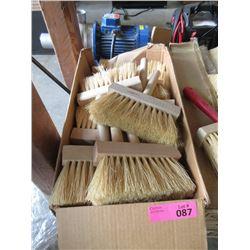 "Box of 24 Soft Bristle 1"" x 6"" Wisk Brooms"