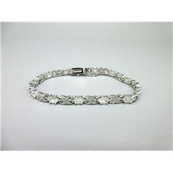 Diamond & White Topaz Crossover Bracelet