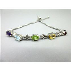 Genuine Multi-Gemstone Ladies Bracelet