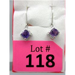 New Amethyst & Diamond Dangle Earrings