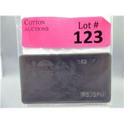 1 Oz. Rising Sun Mint .999 Titanium 2010 Bar