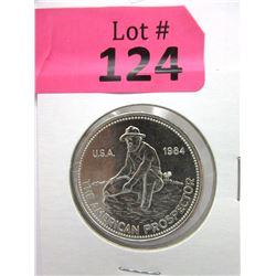 1 Oz. Engelhard .999 Fine Silver 1984 Round
