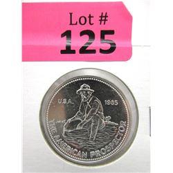 1 Oz. Engelhard .999 Fine Silver 1985 Round