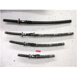 4 Japanese Replica Swords with Sheaths