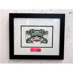 Richard Shorty Framed Print - Copper Tree Frog