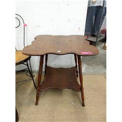 Vintage Oak Clover Parlour Table ca1910