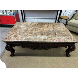 Large Marble Topped Coffee Table