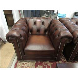 New Brown Amax Leather Arm Chair