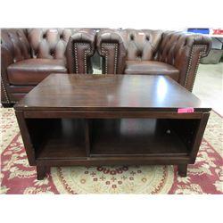 Wood Coffee Table with Shelf
