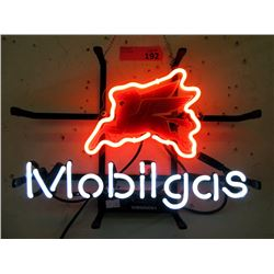"""New Electric Neon """"Mobilgas"""" Sign - 10 x 15"""""""