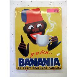 Embossed Metal Banania Hot Chocolate Sign