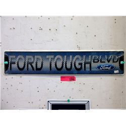 """New Embossed Metal """"Ford Tough"""" Sign"""