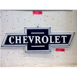 "New Embossed Metal ""Chevrolet"" Sign"