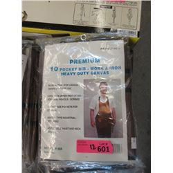 12 New Heavy Duty Canvas Work Aprons