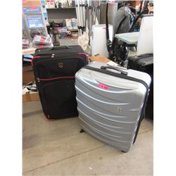 2 Large Rolling Suitcases - Store Returns