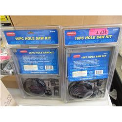 2 New 16 Piece Hole Saw Kits
