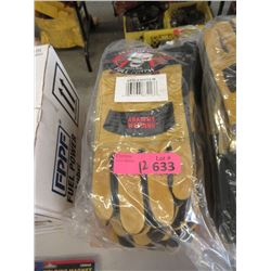 12 New Pairs of Anarchy Welding Gloves - Size M