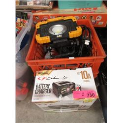 Battery Chargers & Crate of Tools