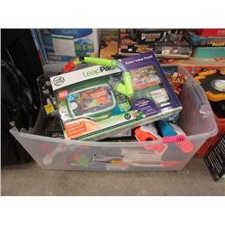 Large Tote of Assorted Children's Toys