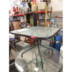 Metal Framed Patio Table