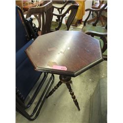 Vintage Wood Tripod Accent Table