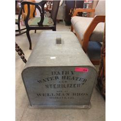 Vintage Galvanized Water Heater & Sterilizer Cover