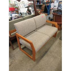 """50"""" Upholstered Love Seat with Wood Frame"""