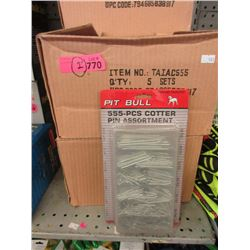 2 Cases of 5 New 555 Piece Cotter Pin Sets