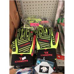 12 New Pairs of Razorback Rawtek Gloves - Size XL
