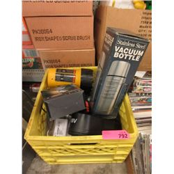 Crate with Jig Saw Vacuum Bottle & More