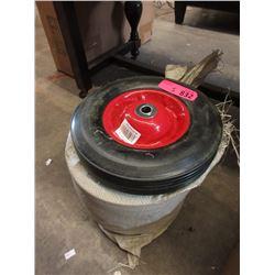 5 New 10  Hard Rubber Wheels