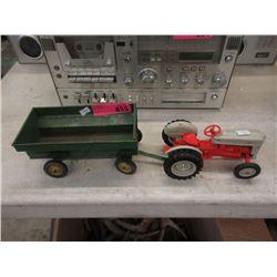 Die-Cast Tractor & John Deere Steel Trailer