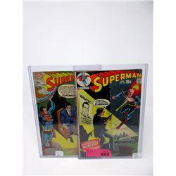 """2 Vintage """"Superman""""  DC Comics - #211 & #230"""