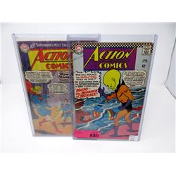 "Two 1966 ""Action Comics"" 12¢ Comics - #322 & #338"