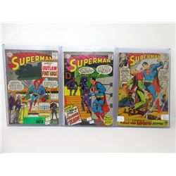 "3 ""Superman"" 12¢ DC Comics - #179, #191, #205"