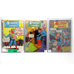 "3 ""Action Comics"" 12¢ DC Comics- #329, #330, #397"