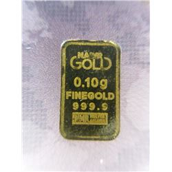 Three .9999 Gold 1 Gram German Mint Karat Bars