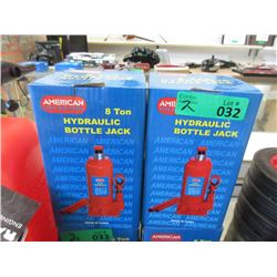 2 New 8 Ton Hydraulic Bottle Jacks