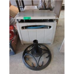Iron Umbrella Stand & Hose Winder Box with Hose