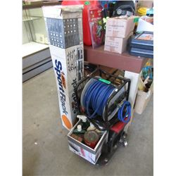 Air Hose Winder with Hose, Auto Fluids & more
