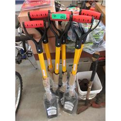 6 New D-Handle Garden Spades